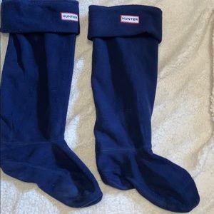 Hunter blue boot socks